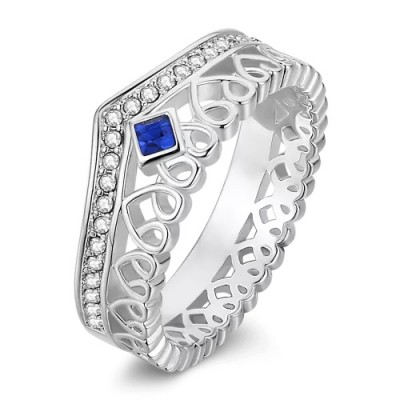 S925 Sterling Silver Personalized Promise Birthstone Promise Ring