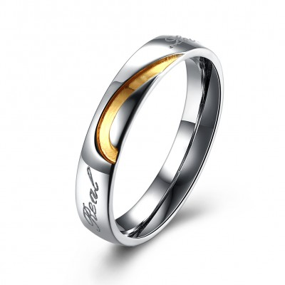 S925 Sterling Silver Sweet Heart Couples Ring
