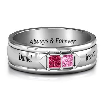 S925 Sterling Silver Men's Timeless Romance Ring