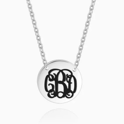 Engraved Monogram Necklace