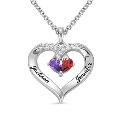 Forever Together Engraved Birthstone Necklace