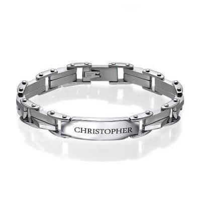 Men's Engraved Bracelet