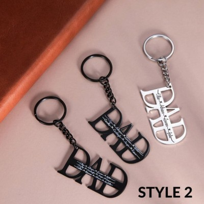 Father's Day Gift Personalized Dad Keychain Engraving 1-16 Names