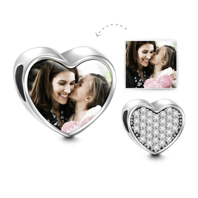 Heart Personalized Photo Charm