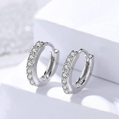 Silver Circle Earrings