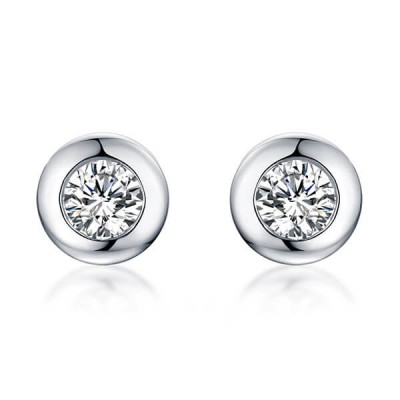Personalized Gemstone Stud Earrings In Sterling Silver