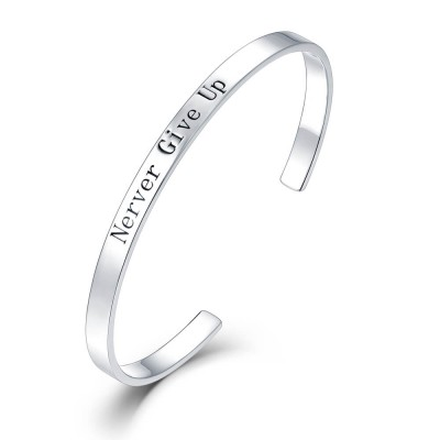 Open Bracelet Engraved Your Words
