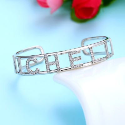 Personalized Hollow Name Bracelet with Capital Letters