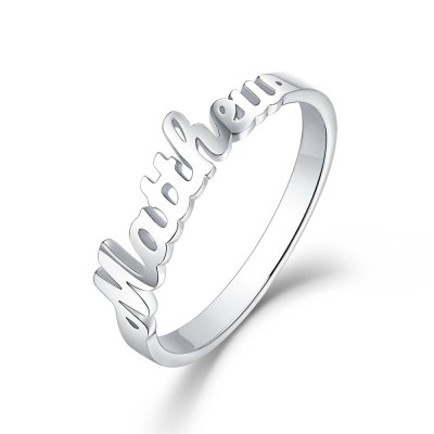 S925 Sterling Silver Personalized Name Ring