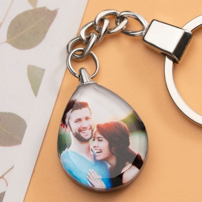 Customize Photo Crystal Keychain Heart Shaped Gift for Any Occasions