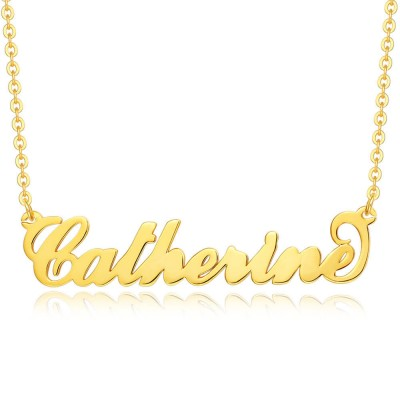 """18K Gold Plating Silver Personalized """"Carrie"""" Name Necklace"""