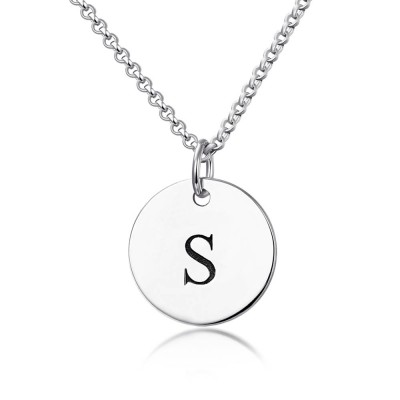Personalized Initial Engraved Hang Tag Necklace
