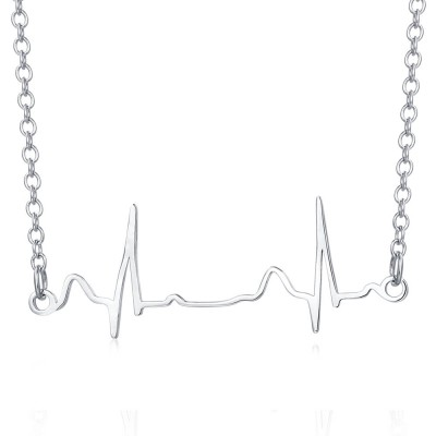 Personalize Baby Heartbeat Necklace Gift for New Mom