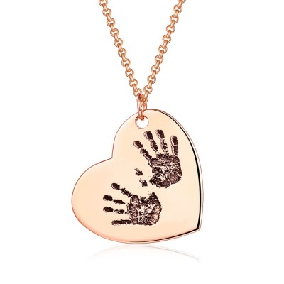 Engraved Fingerprint Handwriting Jewelry
