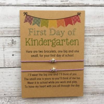 First Day of Kindergarten School Bracelet Matching Bracelets Star Bracelets
