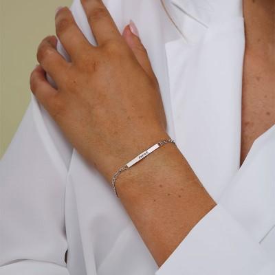 ID Bracelet for Men With Gold Plating