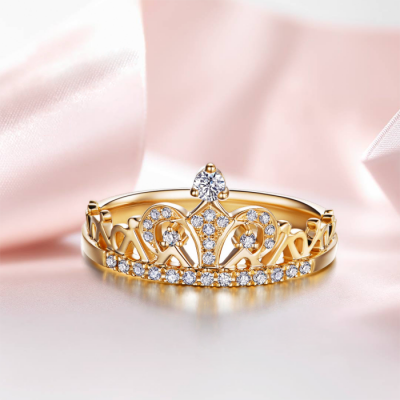 S925 Sterling Silver Exquisite Crown
