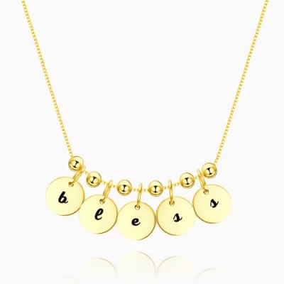 Personalized Engraved Initial Necklace