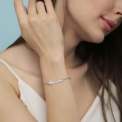 Personalized Name Bracelet Adjustable
