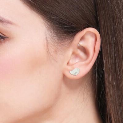 Little Bird Stud Earring Sterling Silver
