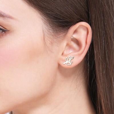 Tree Branch Stud Earrings for Women Sterling Silver