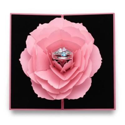 Handmade Personalized Rose Ring Box