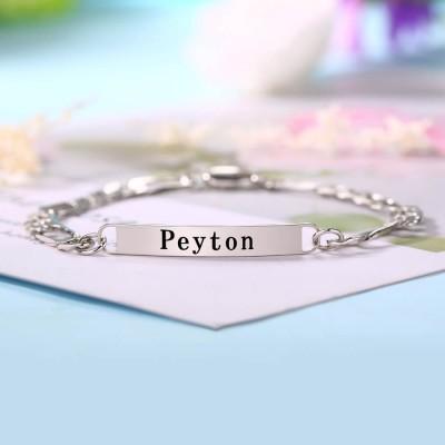 Personalized Engraved Bracelet Mens ID Bracelet