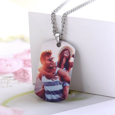 Customize Photo Necklace-best Gift For Dad