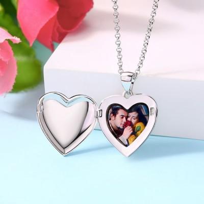 S925 Silver Engravable Photo Necklace